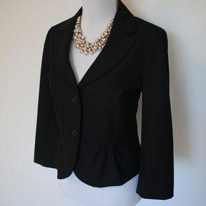 ANN TAYLOR LOFT Size 10 Black Suit Blazer Jacket